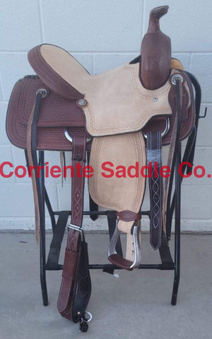 "#122 13"" Corriente Youth Buckaroo Association Saddle"
