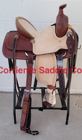 "#121 13"" Corriente Youth Buckaroo Association Saddle"