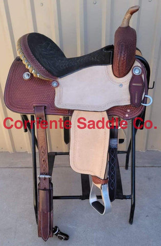 "#126 15"" Corriente Barrel Saddle"