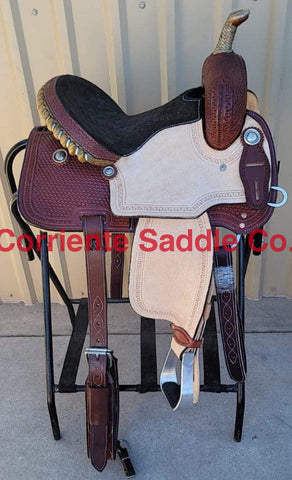 "#127 13"" Corriente Barrel Saddle"