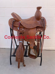 "#468 15.5"" Corriente Association Saddle With A Wade Horn"