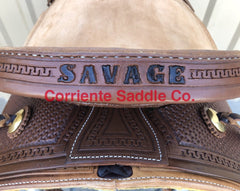 Add Lettering to Cheyenne Roll - Corriente Saddle