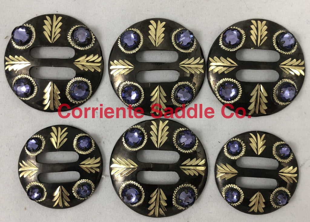 CBCONCH 160 Purple Stone Conchos