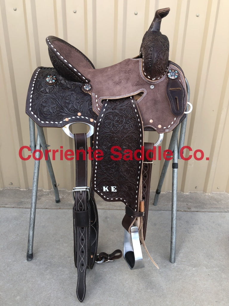 CSB 578BE Corriente New Style Barrel Saddle - Corriente Saddle