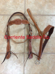 CSHEADSTALL 105 Browband Headstall Wild Rose - Corriente Saddle
