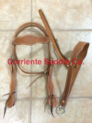 CSHEADSTALL 106 Browband Headstall Basket - Corriente Saddle