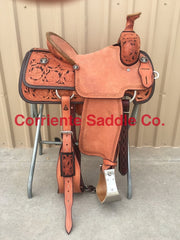 CSR 100A Corriente Team Roping Saddle - Corriente Saddle