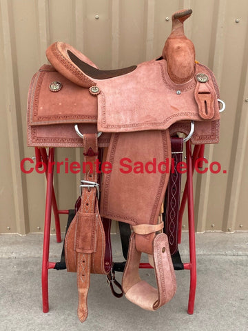 CSR 100AB Corriente Team Roping Saddle