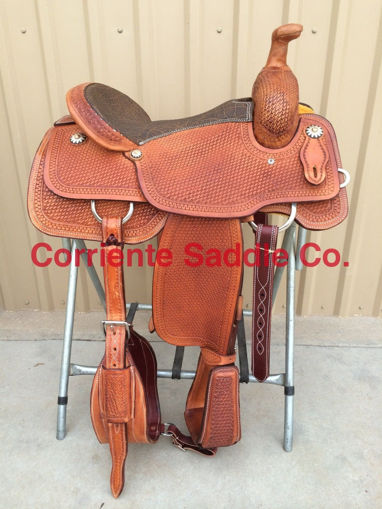 CSR 108 Corriente Team Roping Saddle - Corriente Saddle