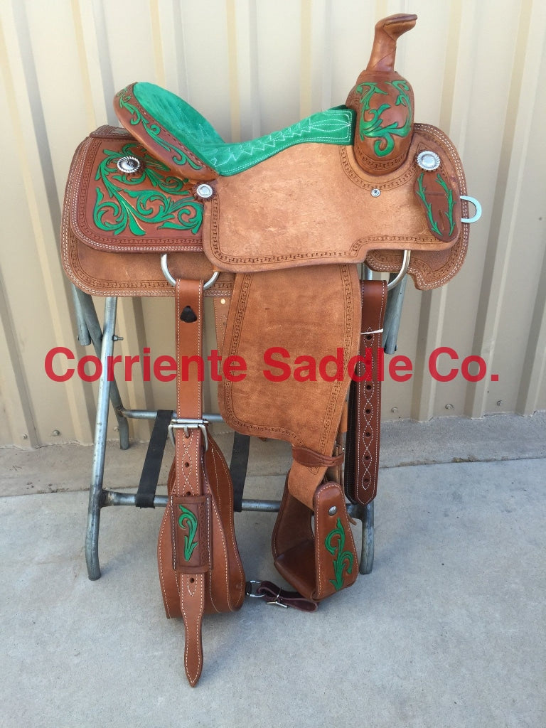 CSR 113C Corriente Team Roping Saddle - Corriente Saddle