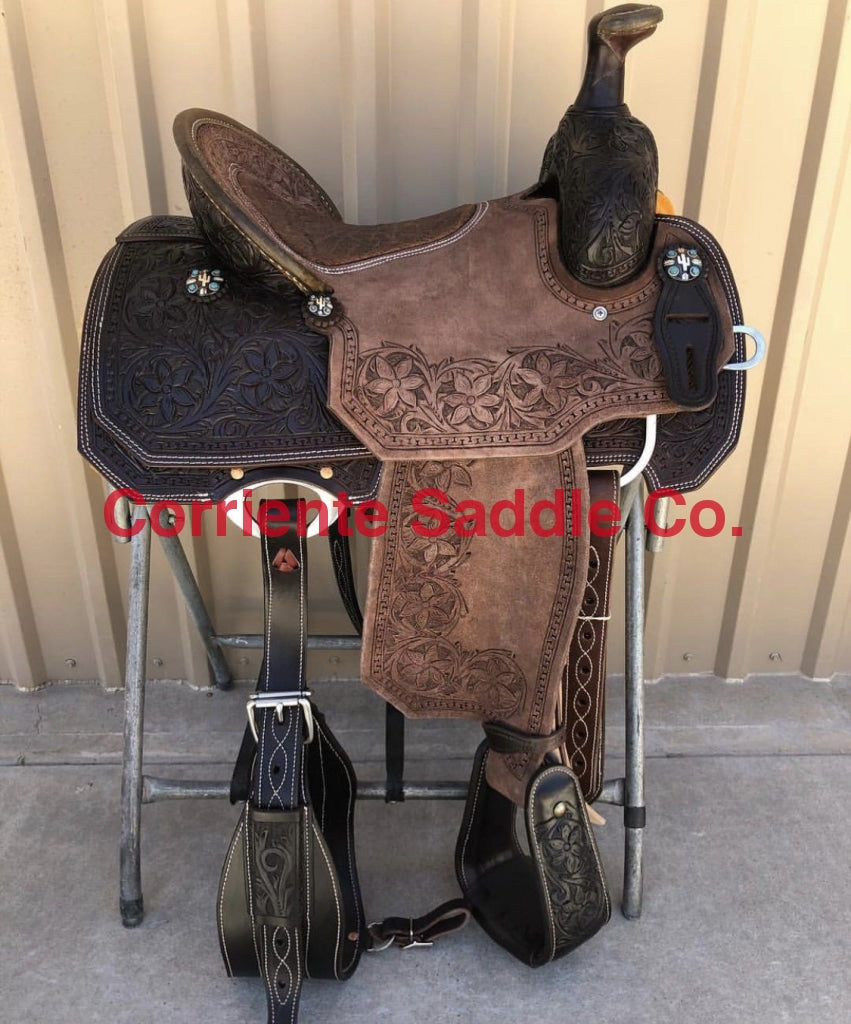 CSR 167BK Corriente Team Roping Saddle - Corriente Saddle