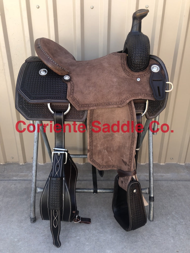 CSR 167J Corriente Team Roping Saddle - Corriente Saddle