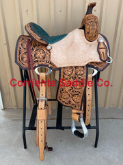 CSRCB 593A Corriente Ranch Cutter Barrel Saddle