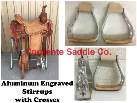CSSTIRRUP 109 Aluminum Engraved With Crosses