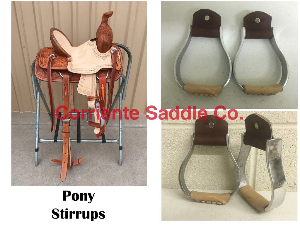 CSSTIRRUP 118 Aluminum Pony Stirrups - Corriente Saddle