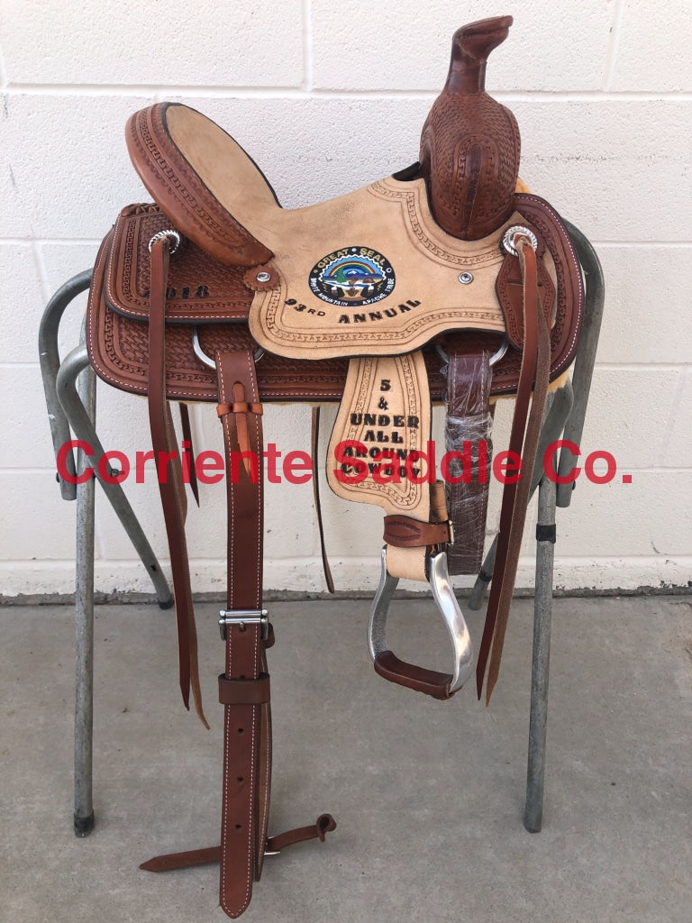 CSY 701AA 10 Inch Corriente Youth Kids Buckaroo Association - Corriente Saddle