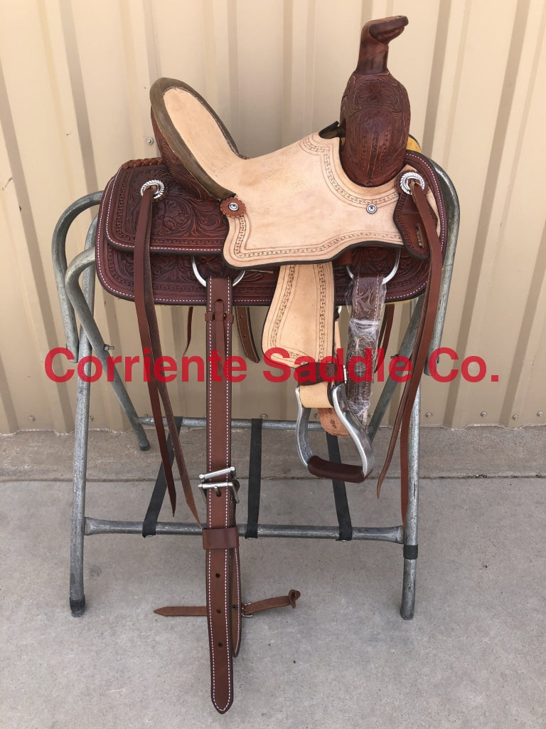 "CSY 701CA 10"" Corriente Youth Buckaroo Association Saddle - Corriente Saddle"