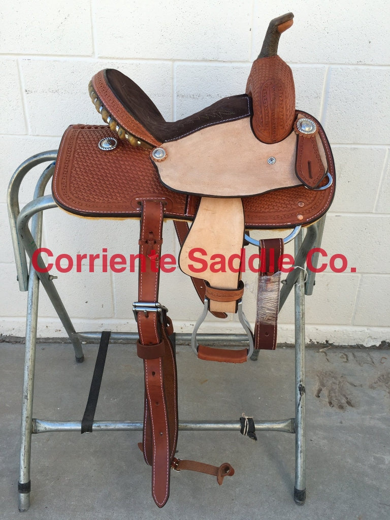 CSY 708A 10 Inch Corriente Youth Kids Barrel Saddle - Corriente Saddle