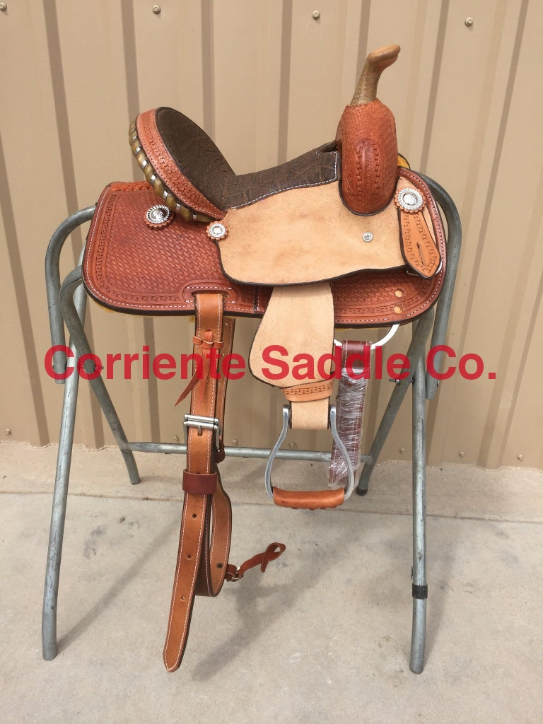CSY 713 10 Inch Corriente Youth Kids Barrel Saddle