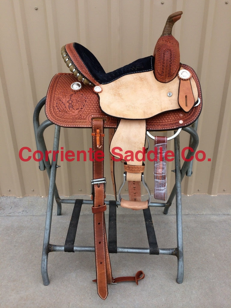 CSY 714 10 Inch Corriente Youth Kids Barrel Saddle - Corriente Saddle