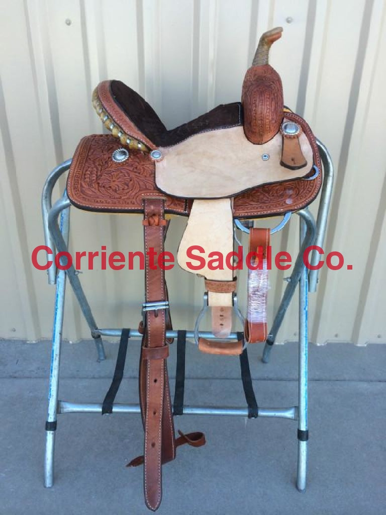 CSY 714A 10 Inch Corriente Youth Kids Barrel Saddle