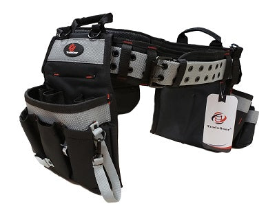 TradeGear Newly Desgined & Branded Electrician's Belt & Bag Combo - Heavy Duty Electricians Tool Belt Designed for Maximum Comfort & Durability - Ideal for All Electricians Tools