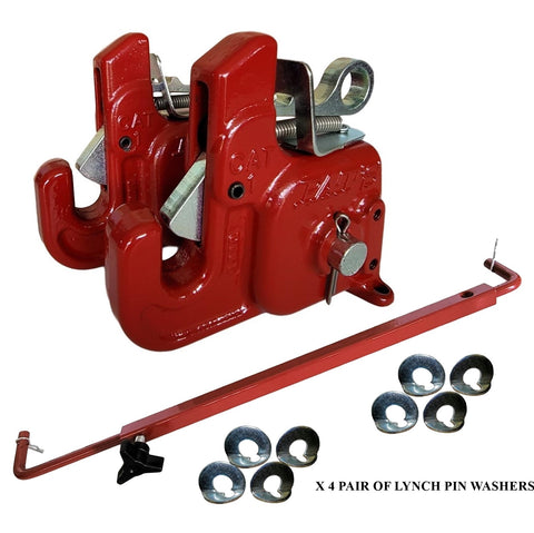 Pat's Easy Change with Stabilizer Bar - Best Quick Hitch System On The Market – Flexible, Durable and Affordable (CAT #1 Red)