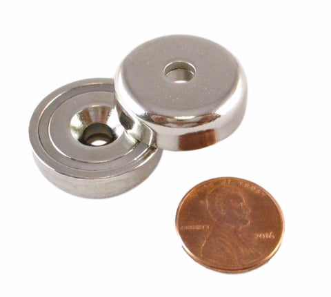 Manic Magnets - (2 Pack)  37.5 Lb. Pull Force, Rare Earth Neodymium (N35) - TradeGear