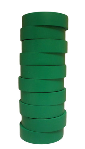 "TradeGear Green Electrical Tape Matte, 10 Pk - Waterproof PVC, Rubber Resin, UL Listed, 60' x ¾"" x 0.07"", Suitable for Use At No More Than 600V & 80°C - TradeGear"