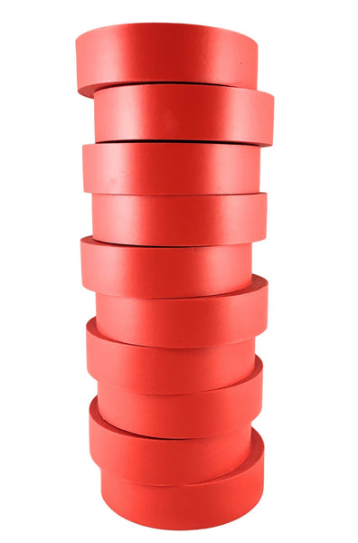 "TradeGear Red Electrical Tape Matte, 10 Pk - Waterproof PVC, Rubber Resin, UL Listed, 60' x ¾"" x 0.07"", Suitable for Use At No More Than 600V & 80°C - TradeGear"