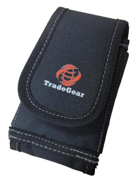 TradeGear Heavy-Duty Smartphone Pouch for Tool Belt Suspenders – Large Phone Pocket Compatible w/iPhone 11 Pro/Max/XS, Samsung Note 20 Ultra, Galaxy S - Waterproof Protective Case for Max Convenience