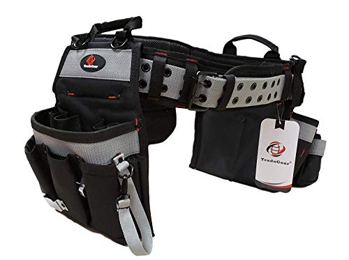 TradeGear Electrician's Belt & Bag Combo - Heavy Duty Electricians Tool Belt Designed for Maximum Comfort & Durability - Ideal for All Electricians Tools - TradeGear