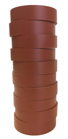 "TradeGear Brown Electrical Tape Matte, 10 Pk - Waterproof PVC, Rubber Resin, UL Listed, 60' x ¾"" x 0.07"", Suitable for Use At No More Than 600V & 80°C - TradeGear"