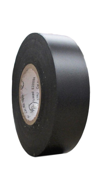 "TradeGear SINGLE ROLL BLACK MATTE Electrical Tape, Colored Durable Adhesive Waterproof PVC Rubber Resin UL Listed 60' x ¾""x 0.07"" Suitable for Use At No More Than 600V and 80°C - TradeGear"