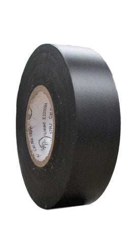 "TradeGear SINGLE BLACK MATTE Electrical Tape, Waterproof PVC, Rubber Resin, UL Listed, 60' x ¾""x 0.07"", Suitable for Use At No More Than 600V & 80°C - TradeGear"