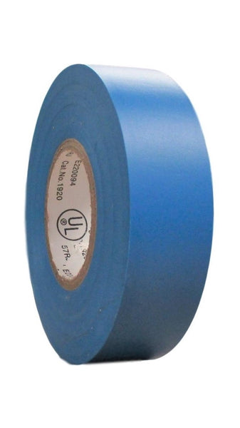 "TradeGear SINGLE ROLL BLUE MATTE Electrical Tape, Colored Durable Adhesive, Waterproof PVC, Rubber Resin, UL Listed, 60' x ¾""x 0.07"", Suitable for Use At No More Than 600V and 80°C - TradeGear"