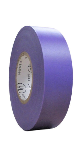 "TradeGear SINGLE ROLL PURPLE MATTE Electrical Tape, Colored Durable Adhesive, Waterproof PVC, Rubber Resin, UL Listed, 60' x ¾""x 0.07"", Suitable for Use At No More Than 600V and 80°C - TradeGear"