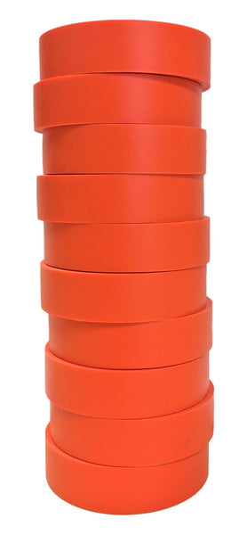 "TradeGear Orange Electrical Tape Matte 10 Pk - Waterproof PVC, Rubber Resin, UL Listed, 60' x ¾"" x 0.07"", Suitable for Use At No More Than 600V & 80°C - TradeGear"