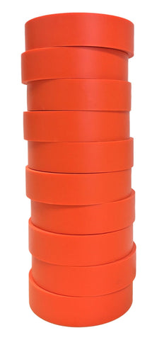 "TradeGear Orange Electrical Tape Matte, 10 Pk Colored Durable Adhesive, Waterproof PVC, Rubber Resin,UL Listed, 60' x ¾"" x 0.07"", Suitable for Use At No More Than 600V and 80°C - TradeGear"