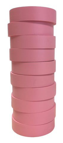"TradeGear Pink Electrical Tape Matte, 10 Pk - Waterproof PVC, Rubber Resin, UL Listed, 60' x ¾"" x 0.07"", Suitable for Use At No More Than 600V & 80°C - TradeGear"
