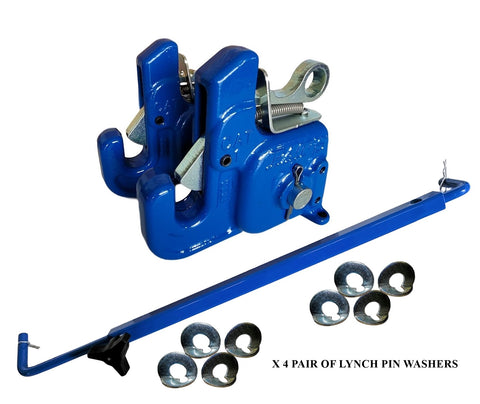 Pat's Easy Change with Stabilizer Bar - Best Quick Hitch System On The Market – Flexible, Durable and Affordable (CAT #1 Blue)
