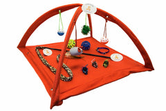 "22"" x 23"" x 13"" Foldable Play Tent w Extra Mouse Toys"