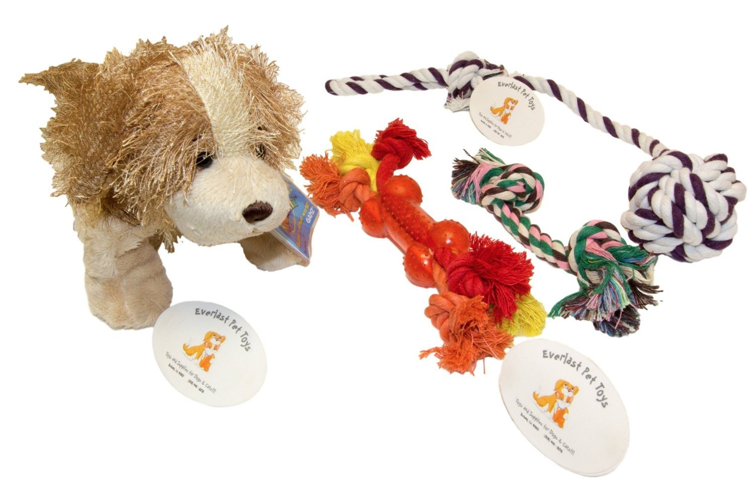 Plush Doll Teether Knotted & Chew Rope Bundle