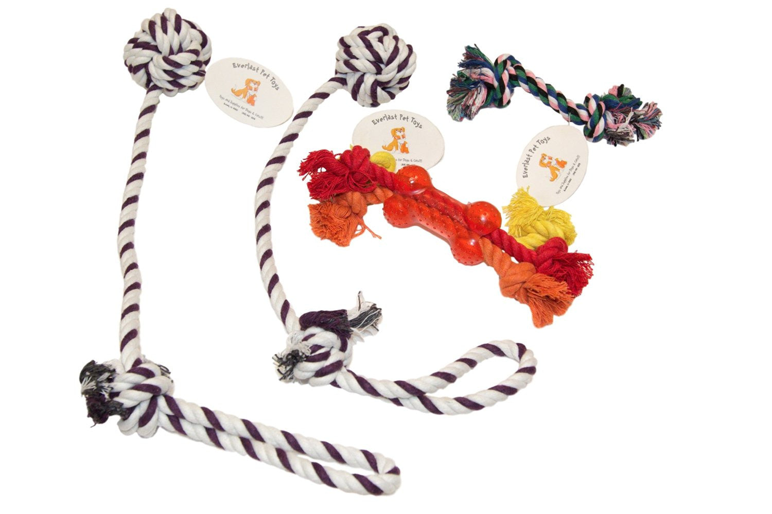Chew & Teether Bone Ropes Bundle For All Dogs