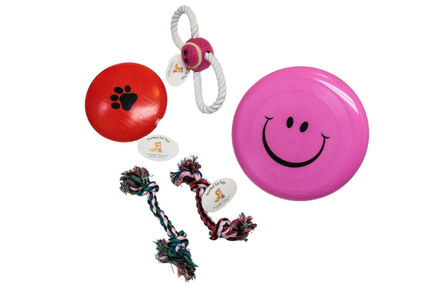 Flying Disc Figure '8' Rope Small Chew Ropes & Squeaker Disc