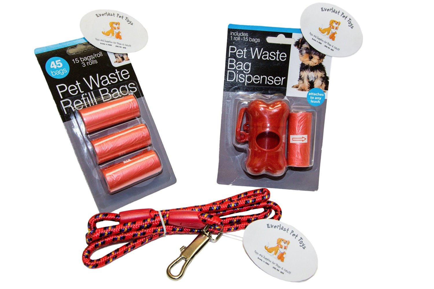 Waste Bag Replenishment w Leash Bundle