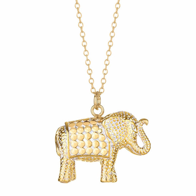 Elephant pendant necklace 30 gold elephant pendant necklace 30 aloadofball Gallery