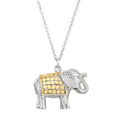 Two Tone Elephant Necklace