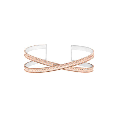 Rose Gold Cross Cuff