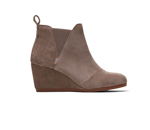Taupe Gray Suede Women's Kelsey Booties